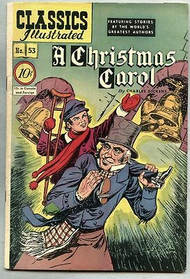Classics Illustrated #53-1948 vf 1st edition Charles Dickens A Christmas Carol