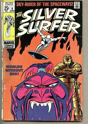 Silver Surfer #6-1969 vg Giant Size John Buscema 1st The Overlord