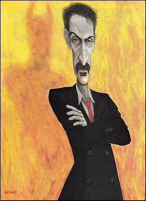 Frank Zappa 8 x 11 pin-up photo illustration 2b trimmed and ready to frame