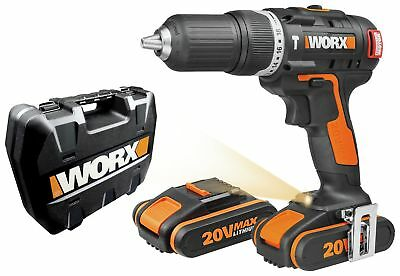 WORX Cordless Brushless Hammer Drill with 2 20V Batteries. From Argos