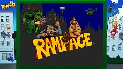 03 80/'s Vintage Eighties Cartoon Poster RAMPAGE Poster 24 inch X 34 inch