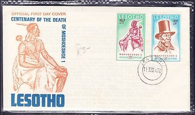 Lesotho 1970 Moshoeshoe 1 Death Centenary  First Day Cover Unn