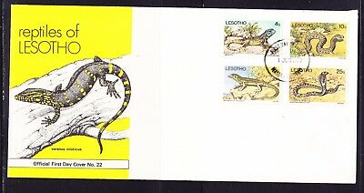 Lesotho 1979 Reptiles First Day Cover Unaddressed