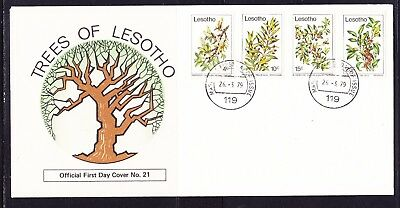 Lesotho 1979 Trees First Day Cover Unaddressed