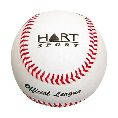 Hart Leather Baseball - Graphite Mixed Core - 9 Inch - White (5-614)