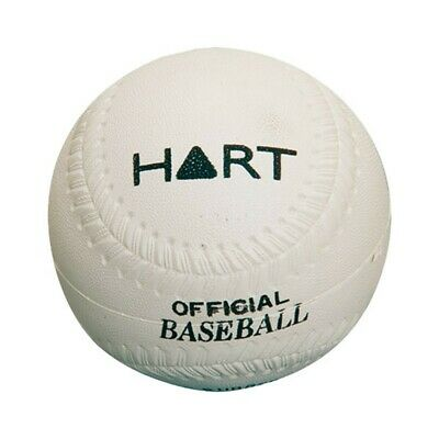 Hart Rubber Baseball - Waterproof Rubber Cover - 9 Inch - White (5-664)