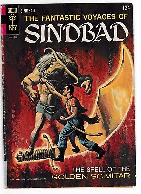 FANTASTIC VOYAGES OF SINBAD #2 (VG/FN) Classic Silver-Age Issue 1967 Gold Key