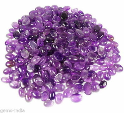2430Ct Wholesale Lot Natural African Purple Amethyst Cabochon Ring Size Gemstone