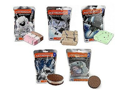 Set of 5 Astronaut Space Food Ice Creams NASA 5 Delicious Freeze Dried Flavours