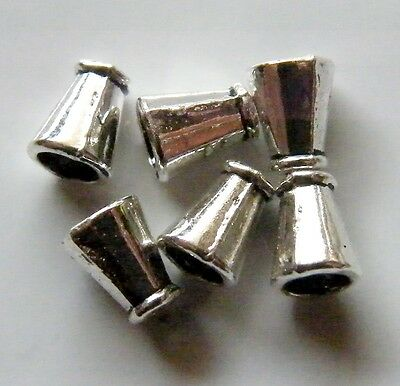 50pcs 5x4mm Metal Spacer Bead Caps/Cones - Antique Silver