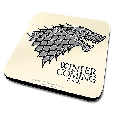 Game Of Thrones House Of Stark Cork Backed Coffee Cup Coaster New Item Jon Snow