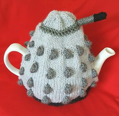 Knitted Tea Cosy  Dalek Large Pot Size (4 Cup)