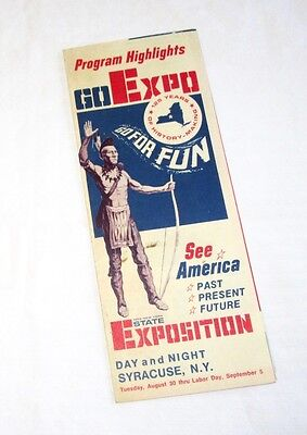 GO EXPO - 1966 New York State Exposition Pamphlet - Syracuse - Aug 30-Labor Day
