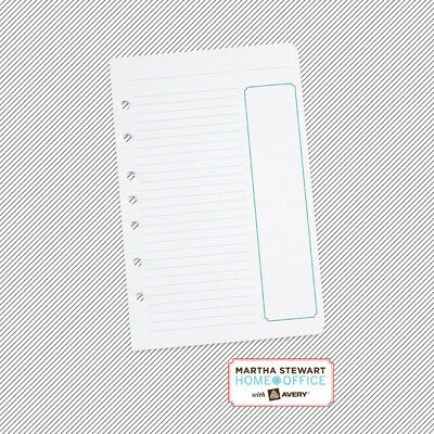 Martha Stewart Home Office Filler Paper 100 Project Planner Sheets Task 5.5x8.5
