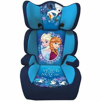 Frozen Group 2 & 3 High Back Car Booster Seat With Adjustable & Removable Back