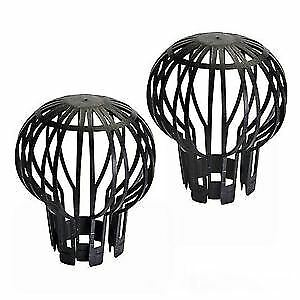 2x Down Pipe Filters Gutter Garden Outdoor Cleaner Balloon Leaves Trap Roof