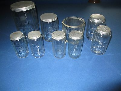 Hoosier Cabinet Colonial Spice Jar Set 9 Pcs.