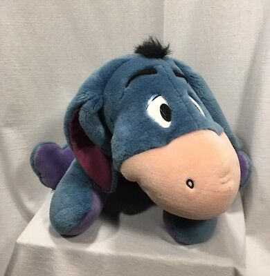 "Eeyore Disney Mattel Large Talking Stuffy 26"" Three Sayings Winnie The Pooh"