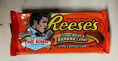 Vintage Elvis Reese's Cup Peanut Butter Banana Cream Wrapper Collector Edition