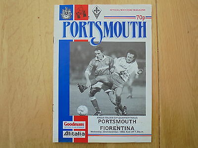 Portsmouth V. Fiorentina 22.12.93 Anglo Italian Cup