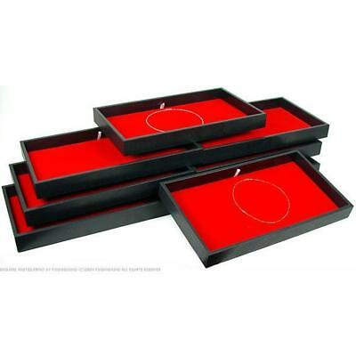 8 Red Velvet Chain Pad & Jewelry Display Tray
