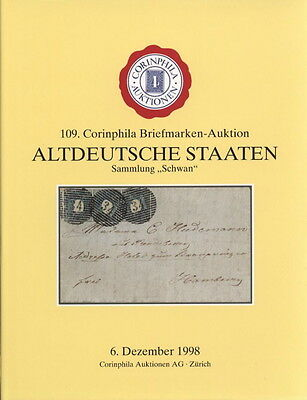 Corinphila 1998 Hardcover Sale 109 GERMAN STATES Auction Catalogue
