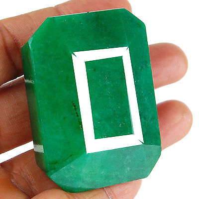 504 Cts Natural Huge Emerald Pendant Size Finest Green Earth Mined Gemstone