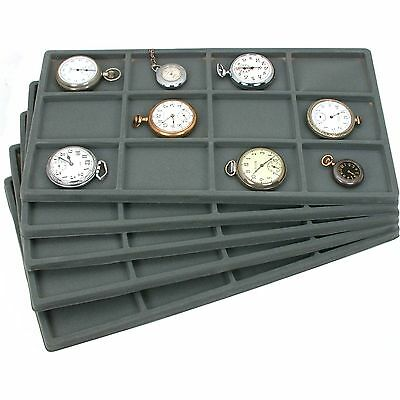 5 12 Gray Compartment Tray Insert Display Showcase