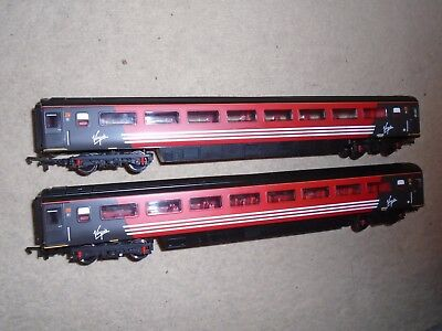 Pair of Virgin Coaches for Hornby OO Gauge Train Sets