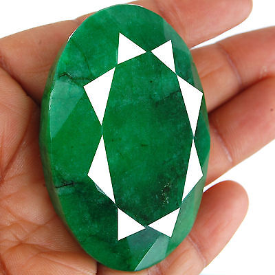 435 Cts Natural Huge Emerald Pendant Size Finest Green Earth Mined Gemstone