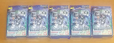 LOT OF 5 SEALED 1999 Digimon card game starter deck BLUE VER 1 Japan tcg ccg