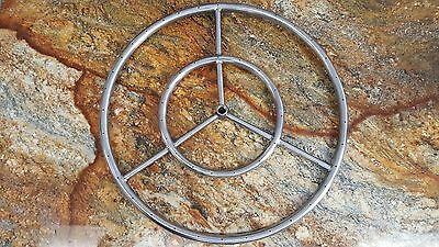 """12"""" Stainless Steel Round Fire Pit Burner Ring, Reversible, From the Distributor"""