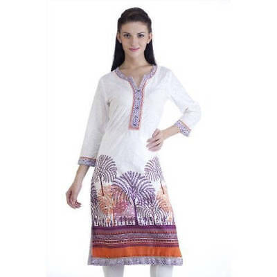 Handmade Meena Bindra Women's Ethnic Forest Printed Kurta Tunic (India)
