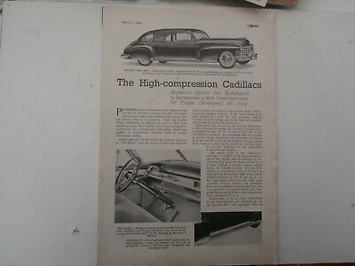 Cadillac series 6. 62. 60s. 75..1949 new model announced.