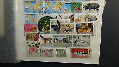 Africa Areas stamp collection on Scott  pages,glassines,cards,etc