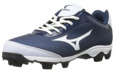 Mizuno 9-Spike Youth Franchise 7 Low Baseball Cleats NIB Navy/White Size 2