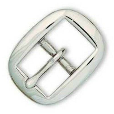"""1"""" Oval Bridle Buckle (SBRASS/NIC) - Tandy Leather #1502-02"""
