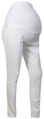 Liz Lange Ladies White Over Bump Maternity Skinny Crop Jeans