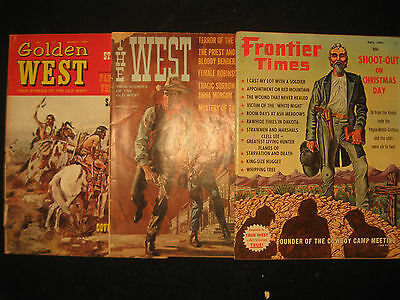 3 Vintage 1965 Western Magazines, Frontier Times, Golden West, The West