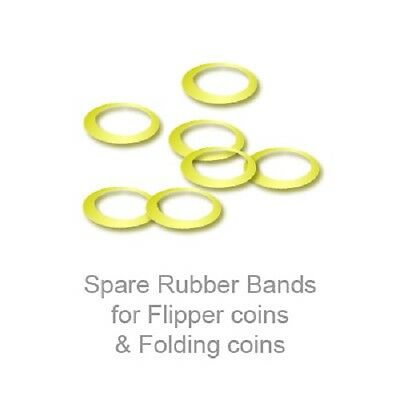 Small elastic rubber bands for folding 10p Magic coin tricks x 25 Flipper coins