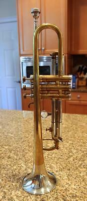 1951 Selmer Invicta Trigger Trumpet London - Foreign - 2 Tone Silver Bell