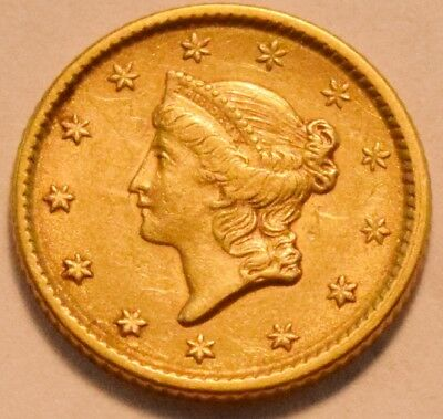 1853 G$1 Type 1 Liberty Coronet One Dollar Gold, High Grade, Nice Type Coin