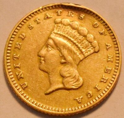1878 G$1 Type 3 Indian Princess One Dollar Gold, Higher Grade Details, Type Coin