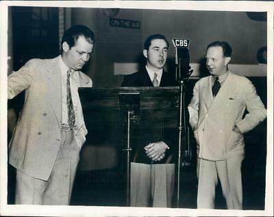 1935 Press Photo Conductor Arnold Johnson, Ray Perkins, Charles Raeder