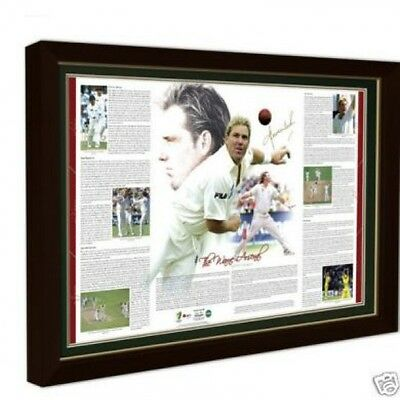 Shane Warne Arsenal Limited Edition Hand Signed Print Ashes World Cup Ponting
