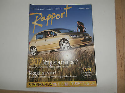 Peugeot owners RAPPORT magazine 2001
