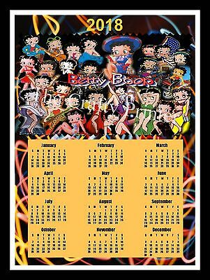 2018 Calendar Magnet  -  Betty Boop Collage