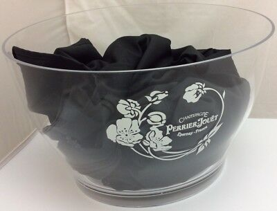 Perrier Jouet Acrylic Ice Bucket Round Champagne 3 Bottle Bowl France RARE