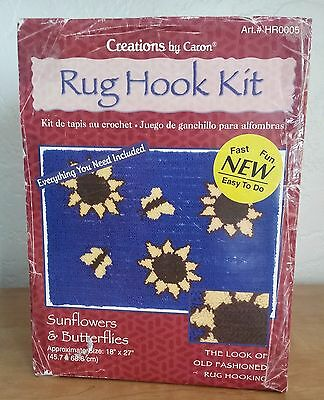 "Vintage Rug Hook Kit Creations by Caron 18"" x 27"" Please Read Description"