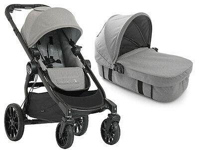Baby Jogger City Select Lux Stroller Slate w Bassinet Kit Pram System Travel NEW